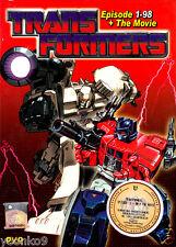 DVD Anime Transformers Generation 1 Season 1-4 TV 1-98 End + Movie English Dub