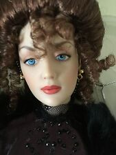"""FRANKLIN MINT Gibson Girl 16""""Vinyl DOLL in Ensemble +Jewelry,Accessories & Stand"""
