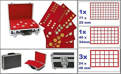 40 coin capsules Prophila for Euro coins 1 Cent to 2 Euro
