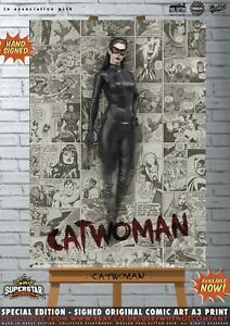 Catwoman-Anne-Hathaway-The-Dark-Knight-Rises-Gotham-Comic-SUPERSTAR-Signed-Print