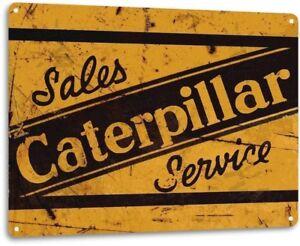 Caterpillar-Tractor-Heavy-Equipment-Sales-Service-Rustic-Metal-Tin-Sign