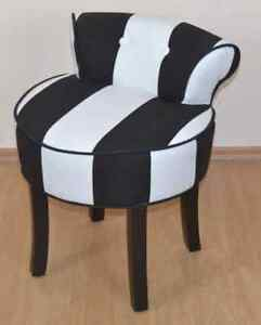 hocker mit r ckenlehne sitzhocker polsterhocker schwarz wei ebay. Black Bedroom Furniture Sets. Home Design Ideas