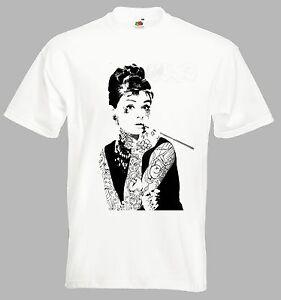 T Shirt Con vintage retro' miti Hepburn Tatuaggi gTgAanr