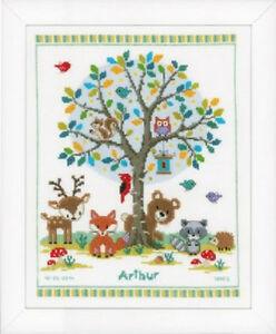 In-the-Woods-Birth-Record-Vervaco-Cross-Stitch-Kit-New