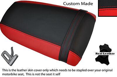 RED /& BLACK CUSTOM FITS HONDA CBR 900 00-01 REAR PILLION LEATHER SEAT COVER
