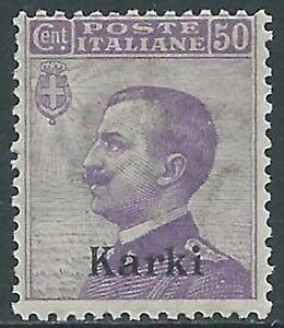 1912 Egeo Carchi Effigie 50 Cent Mnh ** - Ra3