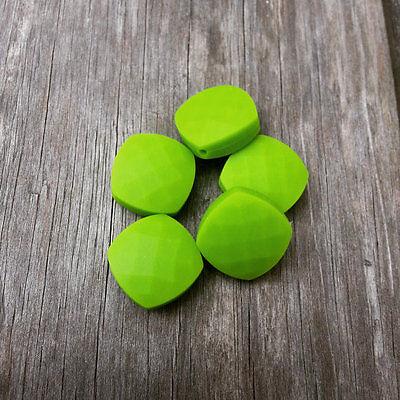5 Silicone Lavender Quadrate Beads Food Grade BPA Free Teething Jewelry Bead