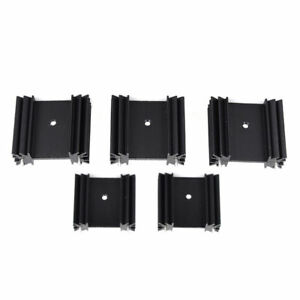5PCS 34X12X30MM Triode IC heat sink Fin For TO-220 Aluminum