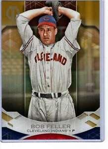 Bob-Feller-2019-Topps-Tribute-5x7-Gold-74-10-Indians