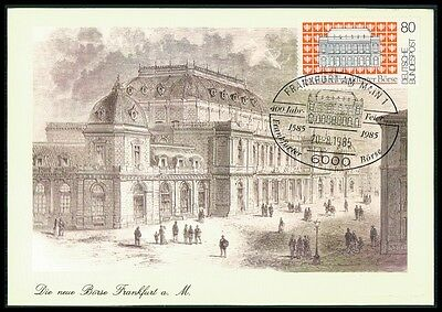 Logisch Brd Mk 1985 Frankfurt BÖrse Maximumkarte Carte Maximum Card Mc Cm Bg20 Briefmarken