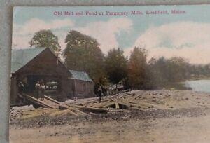 Postcard-Mill-Pond-at-Purgatory-Mills-Litchfield-Maine-Me