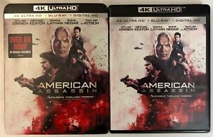 AMERICAN-ASSASSIN-4K-ULTRA-HD-BLU-RAY-2-DISC-SET-SLIPCOVER-SLEEVE-FREE-SHIPPING