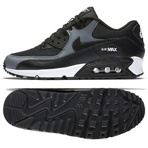 Details about [325213 037] NIKE AIR MAX 90 BLACK GREY WOMENS