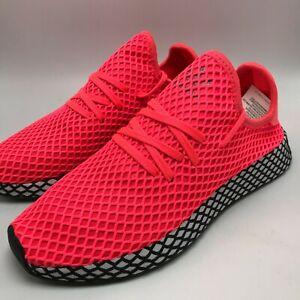 Details about Adidas Originals Deerupt Runner Men's Sneakers Shoes Pink  Turbo Black B41769