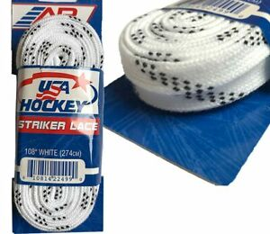 Lacets A&r Coton Blanc Usa Hockey Sur Glace