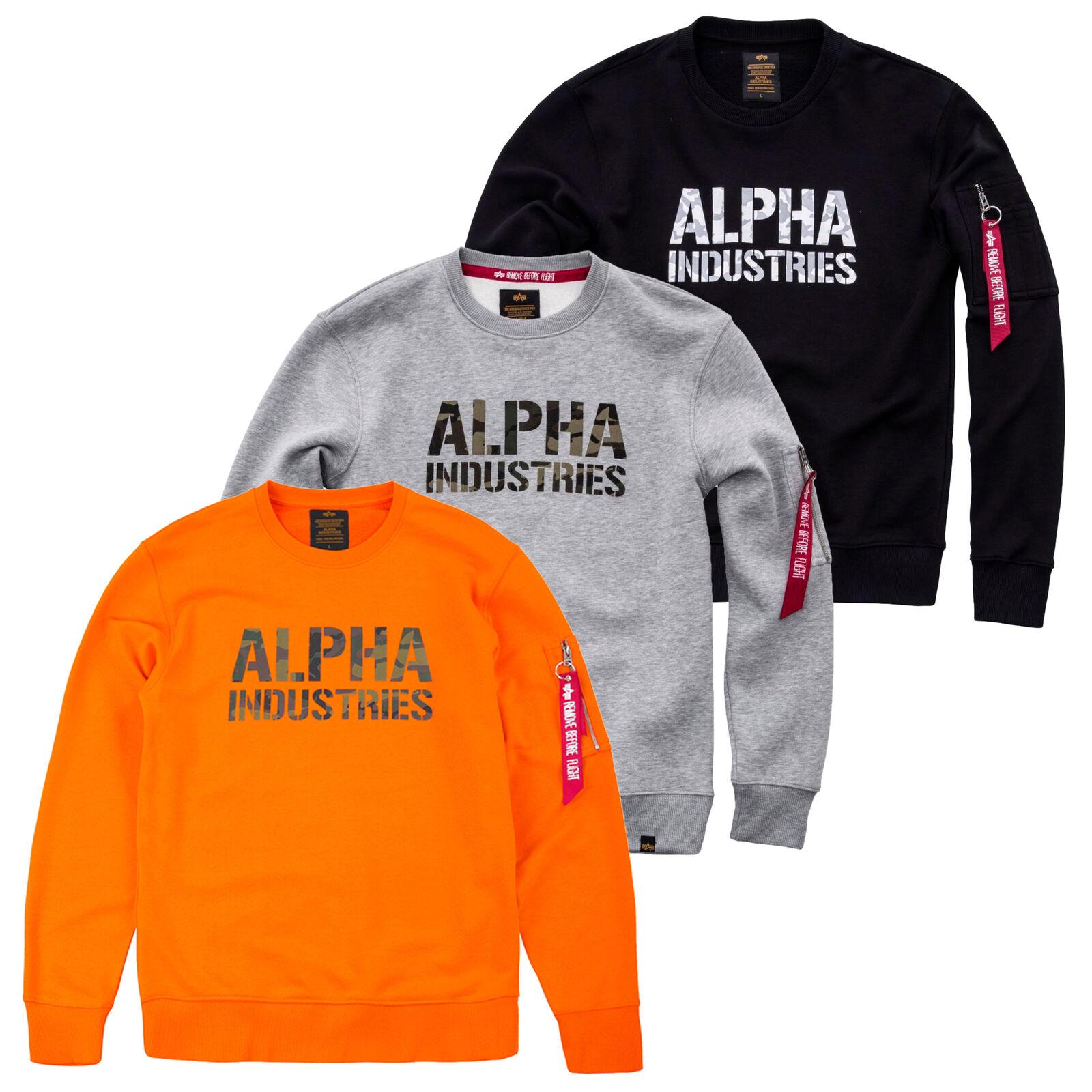 Alpha Industries Herren Men Sweater Camo Print Pullover MA1  S M L XL XXL 3XL