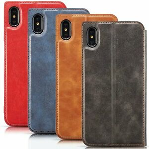 New-Retro-Ultra-thin-Simple-Leather-Card-Slot-Pocket-Phone-Case-Cover-With-Strap
