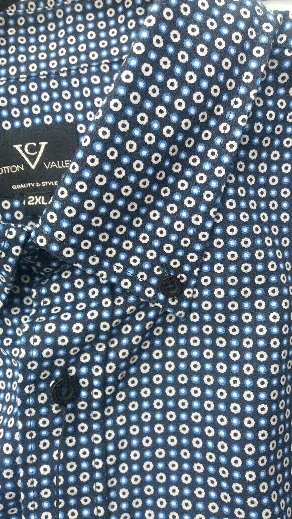 Kurzärmlig Marineblau Marineblau Marineblau Überall Muster aus Cotton Valley 2xl3xl4xl5xl6xl7xl8xl | Ausreichende Versorgung  | München  db8b22