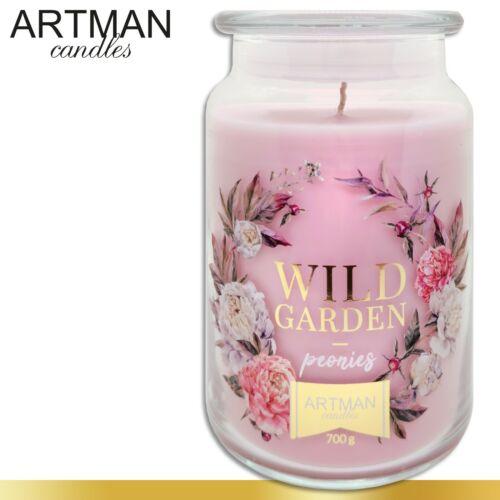 Duftkerze 700 g im Glas Wild Garden Peonies Geschenk Duftwachs 130 h Brenndauer