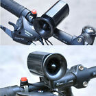 6Sounds Cycling Loud Voice Black Electronic Bicycle Siren Horn Alarm Bell Bike