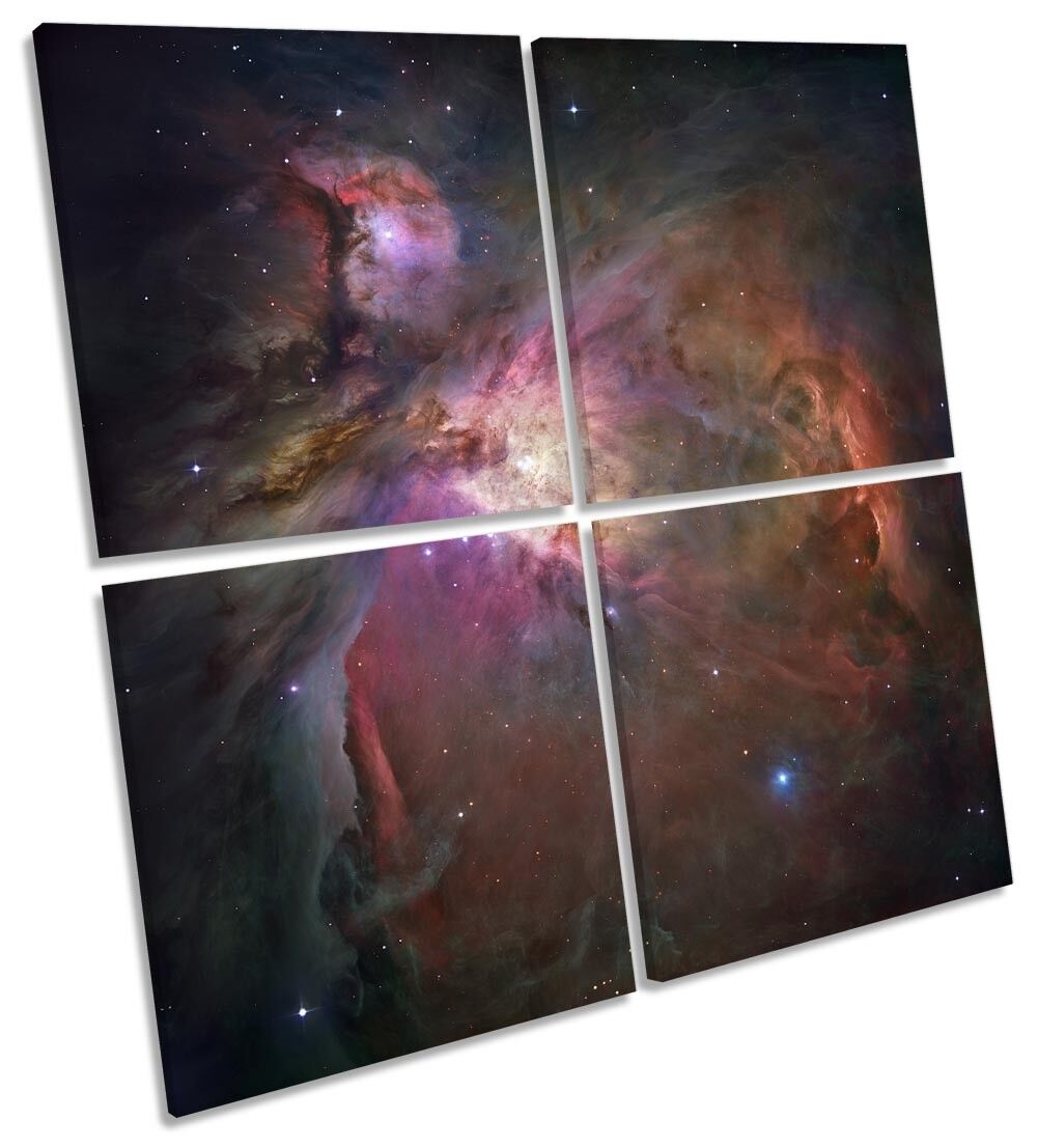 Orion Nebula Hubble Telescope MULTI CANVAS WALL ART Square