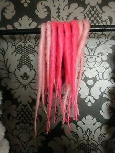 Short Pink Double Ended Synthetic Dreadlocks Acccent Kit