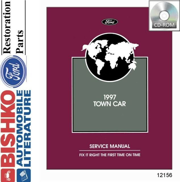 1997 Ford Lincoln Town Car Service Shop Repair Manual  U0026 Wiring Diagrams Set