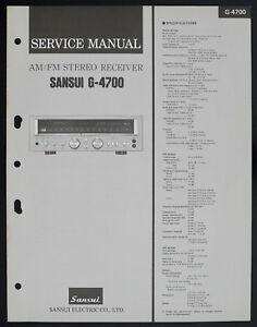 Sansui-G-4700-Original-AM-FM-Stereo-Receiver-Service-Manual-Diagram-O152