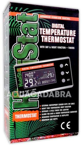 Habistat Termostato Digital Día//Noche /& Temporizador Calentador de temperatura Vivero Lagarto
