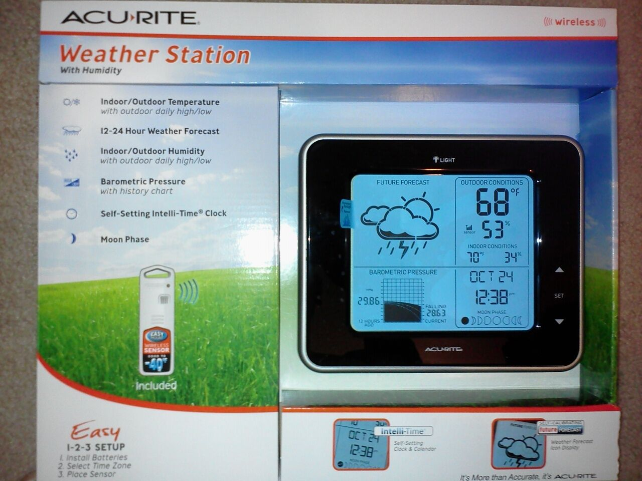 AcuRite Digital Weather Station 13230PDQ NEW IN BOX GR8 DEAL FOR HOLIDAY GIFT ID