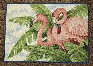 Pink Flamingo Tapestry Placemat