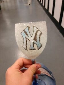 New York Yankees Frosted Candle Glasses | eBay