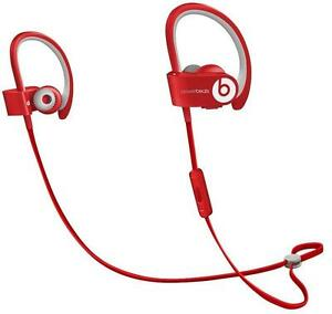 Beats POWERBEATS2 Wireless Red Bluetooth Headphones Genuine Beats by Dre