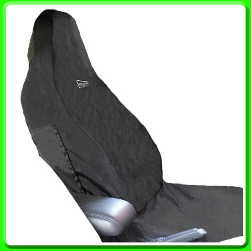 Universal Black Front Car Seat Cover Stretch Waterproof Air Bag Safe SWSC79