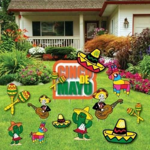 FREE SHIPPING Party Decorations Cinco De Mayo Yard Decoration