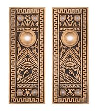 Oriental Decorative Door Back Plates For Doorknobs Bronze