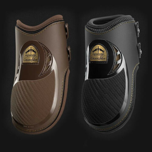 Veredus GRAND SLAM Carbon Gel Vento Airflow Cooling FETLOCK Boots Black/Brown