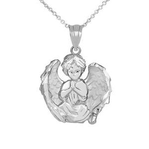 Angel Prayer Pendant Jewelry NEW Silver Guardian Angel Charm Necklace