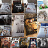 Animal Photographic Print Duvet Quilt Cover Bedding Set & Pillowcases from£12.50