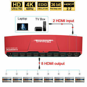 TESmart-4K-60hz-2x8-2-in-8-out-HDMI-Splitter-Switch-Support-HDCP-2-2-HDR-EDID