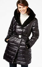 Jones New York Women Reversible Black Faux-Fur Down Mix Puffer Coat NWT Size XXL