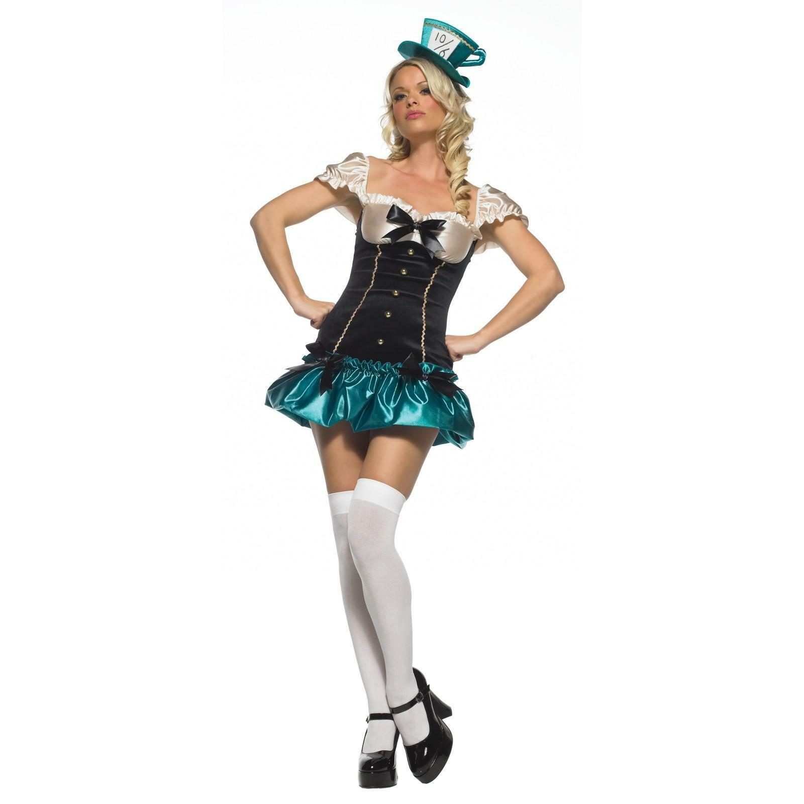 Tea Party Costume Alice in Wonderland Mad Hatter Leg Avenue