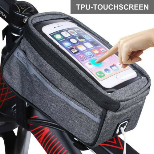 UK MTB Mountain Bike Frame Bag Bicycle Mobile Phone Holder Pannier Waterproof