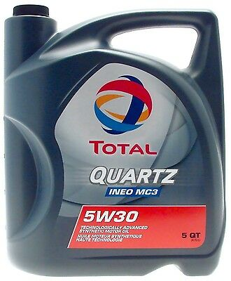 Total INEO MC3 High Performance Full Synthetic 5W30 5W-30 Engine Motor Oil 5qt