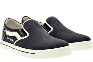 NERO GIARDINI P734130M TEEN scarpe donna bambina sneakers tessuto slip on blu