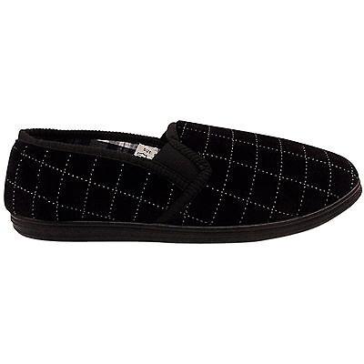 Nuevo Para Hombre Caballeros suave comodidad comprobado Terciopelo Fuelle Suela Dura Zapatillas Zapatos Talla