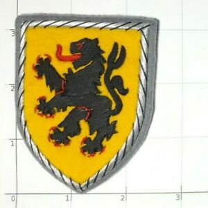 Bayern-Germany-Hand-Embroidered-Shield-Patch-Bavaria-Bavarian-Lion-Coat-of-Arms