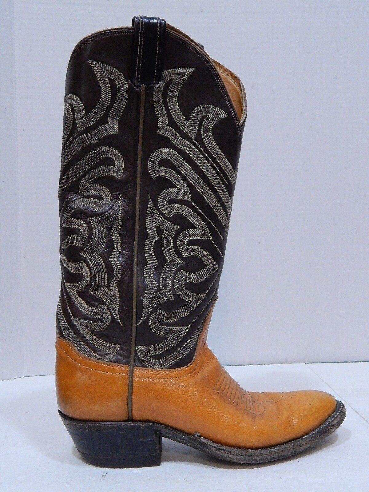 Tony Lama Boots Tall Shaft Vintage Western Cowboy Boots Womens SIZE 6 NARROW