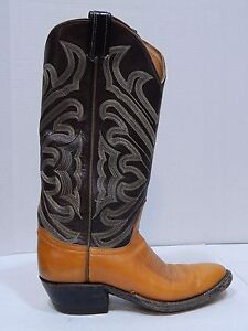 b7417451fde Details about Tony Lama Boots Tall Shaft Vintage Western Cowboy Boots  Womens SIZE 6 NARROW