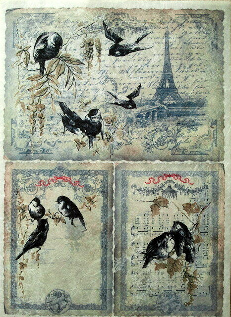 RICE DECOUPAGE PAPER / BIRDS2  / CRAFT PAPER / DECOUPAGE SHEETS / SCRAPBOOKING